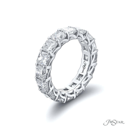 5427-001 | Diamond Eternity Band Radiant-Cut 7.68 ctw. Shared Prong Side View