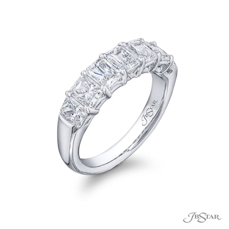 5429-004 | Diamond Wedding Band Radiant-Cut 2.16 ctw. Shared Prong Side View