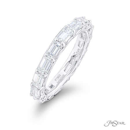 5458-001 | Diamond Eternity Band Emerald-Cut East to West Design Side View