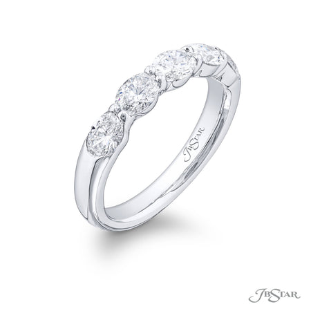 5475-002 | Diamond Wedding Band 1.27 ctw. Oval East to West Design Side View