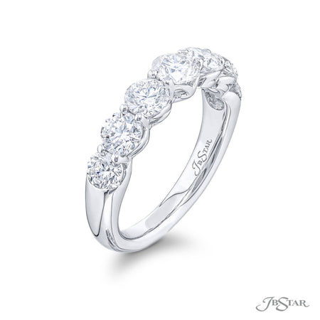 5480-011 | Round Diamond Wedding Band 1.72 ctw. Shared Prong Setting Side View