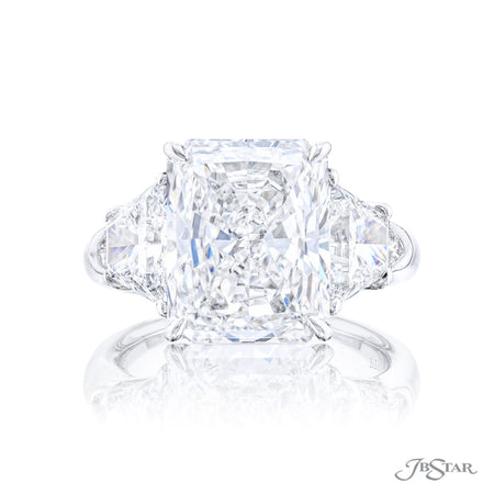 5491-001 | Diamond Engagement Ring 5.78 ct Radiant Cut GIA Certified Front View