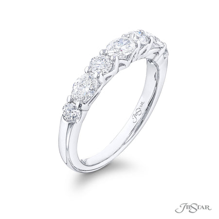 5492-003 | Diamond Wedding Band Oval & Round 0.94 ctw. East to West Side View
