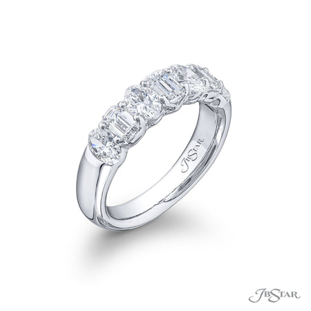 5512-001 | Diamond Wedding Band Oval & Emerald-Cut 2.00 ctw. Side View