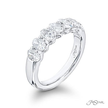 5514-001 | Diamond Wedding Band Oval Cut 1.57 ctw. Shared Prong Side View