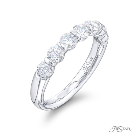 5525-013 | Diamond Wedding Band 1.02 ctw. Shared Prong Setting Side View
