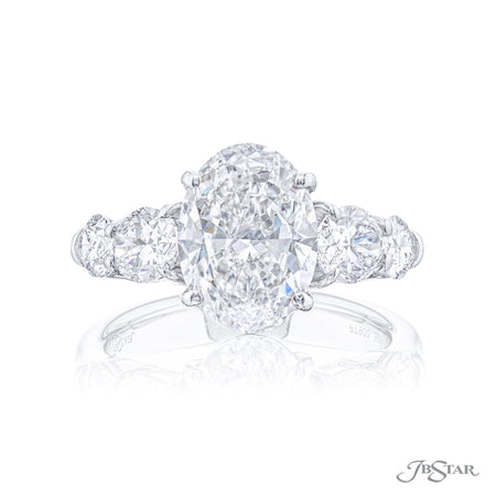 5534-001 | Diamond Engagement Ring Oval Cut 3.01 ct. GIA certified Front View