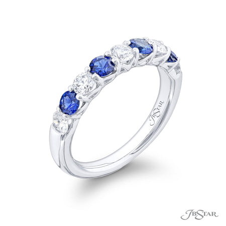 5551-005 | Sapphire & Diamond Band 0.71 ctw. Alternating Design Side View