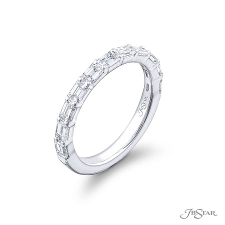 5557-008 | Diamond Wedding Band 11 Emerald Cut 1.26 ctw. SIde View