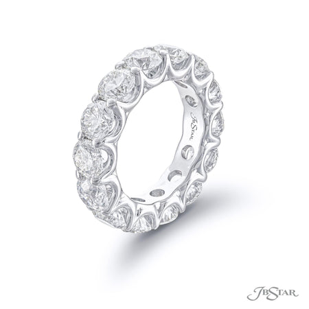 5578-002-Eternity band 14 round diamonds shared prong setting side view
