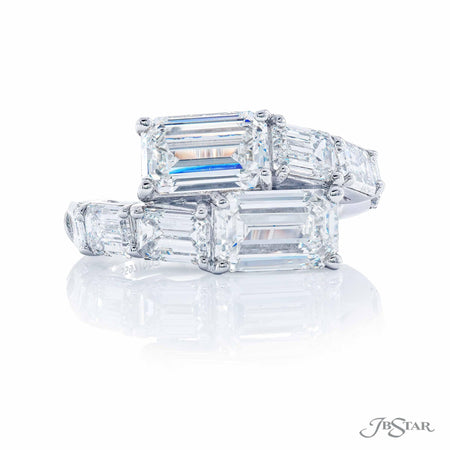 Platinum Two-Stone Emerald Cut Diamond Engagement Ring 5597-003