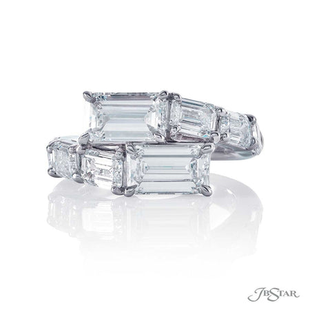 Platinum Two-Stone Emerald Cut Diamond Ring 5597-005