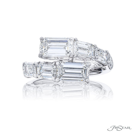 5597-008 | Twogether Diamond Ring Emerald-Cut GIA Certified 4.71 ctw Front View