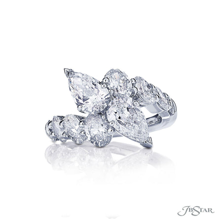 Two-Stone Platinum Pear Shaped Diamond Engagement Ring