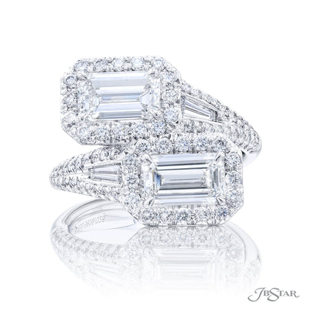 5636-026 | Diamond Twogether Ring Emerald-Cut 2.18 ctw. GIA Certified Front View