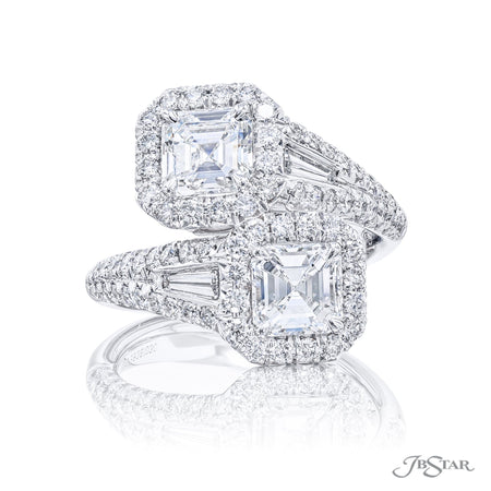 5636-030 | Twogether Diamond Ring Emerald-Cut 2.01 ctw. GIA Certified Front View