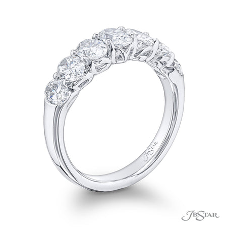 5642-001 | Oval Diamond Wedding Band 2.33 ctw. Shared Prong Setting Side View