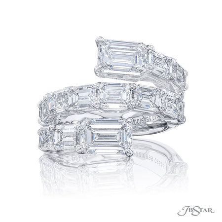 5689-004 | Twogether Diamond Ring Emerald-cut 3.01 ctw. GIA Certified Front View