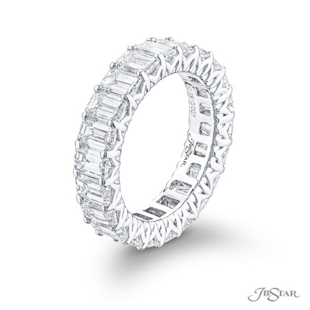 5810-002 | Diamond Eternity Band Emerald-Cut 5.48 ctw. Shared Prong Side View