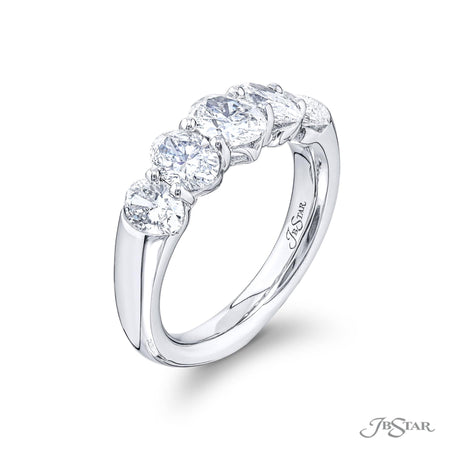 5822-002 | Diamond Wedding Bands 1.94 ctw Oval Cut Shared Prong Side View