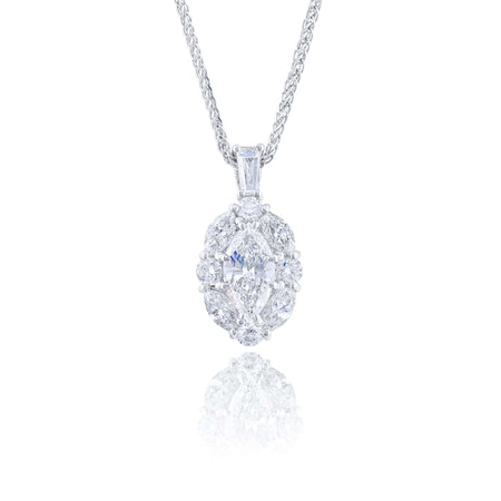 5836-002 | Diamond Pendant Marquise Diamond 0.70 ct. GIA Certified