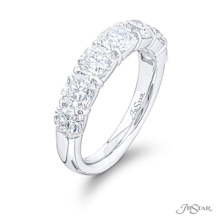 5841-001 | Diamond Wedding Band Radiant Cut 3.11 ctw. Shared Prong Side View
