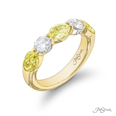 5858-001 | Diamond Wedding Band Fancy Yellow 1.65 ctw. 18 KY Gold Side View