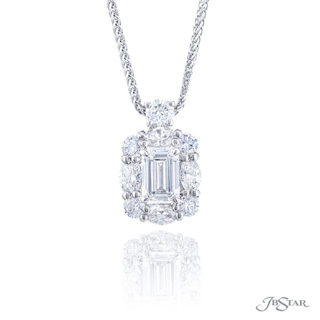 5861-003 | Diamond Pendant 1.01 ct. Emerald-Cut GIA Certified