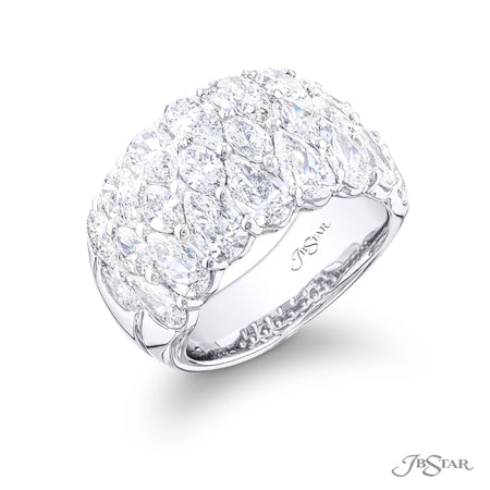 5863-001 | Diamond Wedding Band Marquise & Pear-Shaped 5.50 ctw. Side View