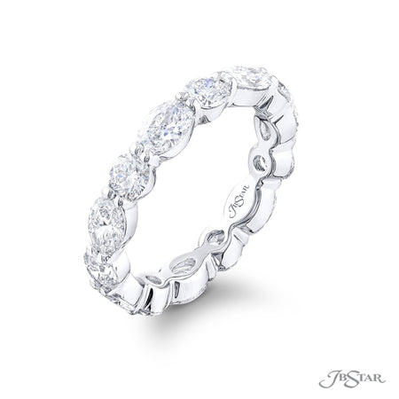 5867-001 | Diamond Eternity Band Oval & Round East to West Design Side View