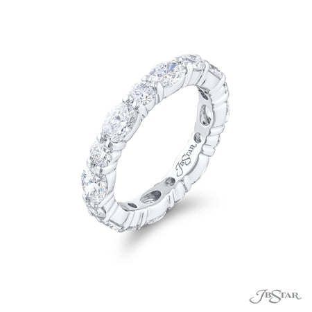 5872-001 | Diamond Wedding Band Round & Oval 2.90 ctw. Shared Prong Side View