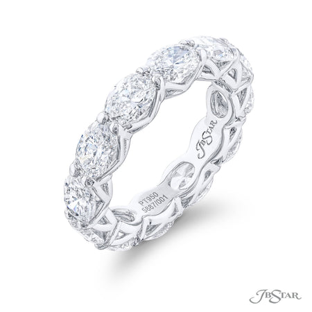 5887-001 | Oval Diamond Eternity Band 5.07 ctw. Shared Prong Setting Side View