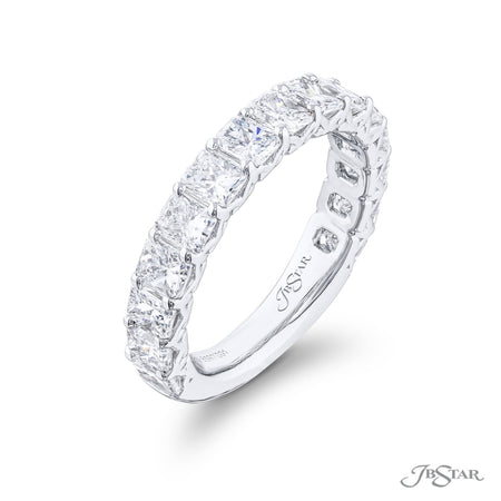 5890-001 | Diamond Wedding Band Radiant Cut 3.00 ctw. Shared Prong Side View