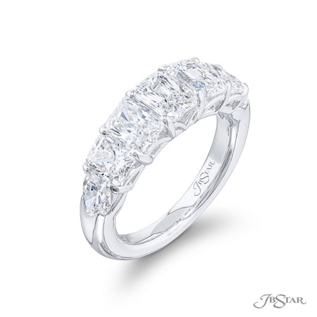 5904-001 | Diamond Wedding Band Radiant-Cut Diamond 3.40 ctw. Side View