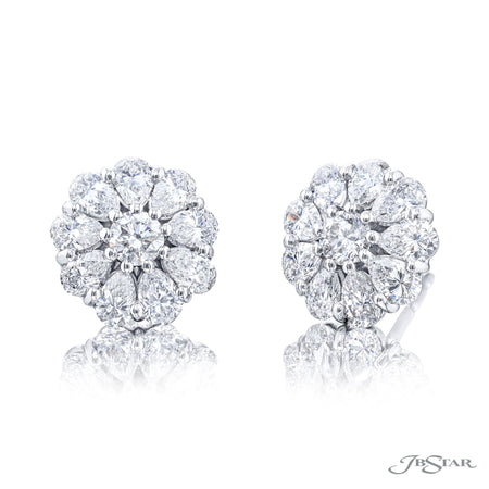 5906-003 | Diamond Stud Earrings Pear-Shaped & Round 2.20 ctw.