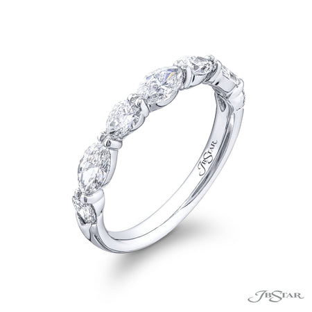 5928-003 | Diamond Wedding Band Pear & Marquise 1.25 ctw. Shared Prong Side View