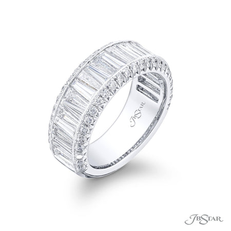 6064-002 | Diamond Wedding Band Tapered Baguette Channel Set Side View