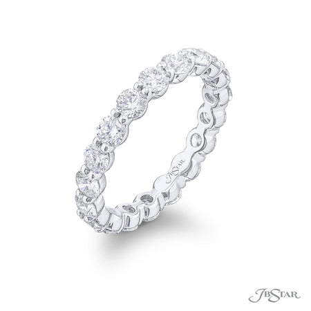7020-022 | Diamond Eternity Band Round 2.18 ctw. Shared Prong Setting Side View