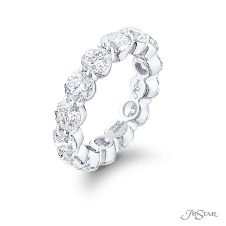 7035-004 | Diamond Eternity Band 14 Round Shared Prong Setting Side View