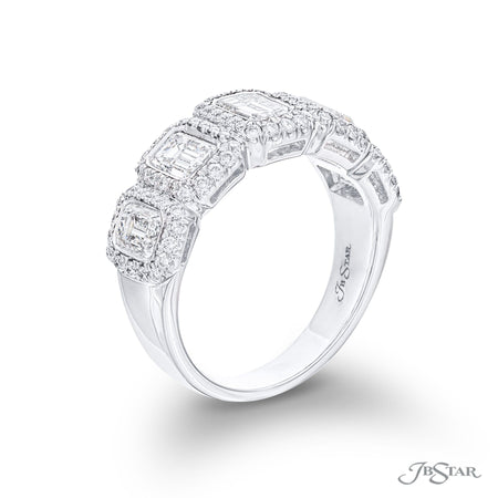 7059-022 | Diamond Wedding Band Emerald-Cut 1.79 ctw. Micro Pave Side View