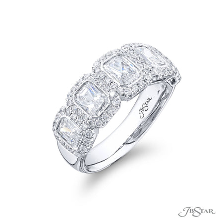 7059-028 | Diamond Wedding Band Radiant-Cut Bezel Set Micro Pave Side View