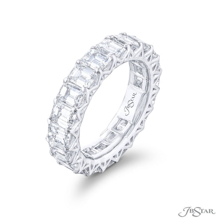 7094-002 | Diamond Eternity Band Emerald-Cut 6.02 ctw. Shared Prong Setting Side View