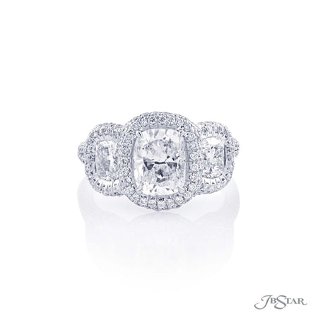 1.71 ct Platinum Cushion Cut Diamond Engagement Ring