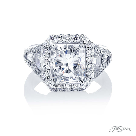 2.93 ct Platinum Radiant Cut Diamond Engagement Ring