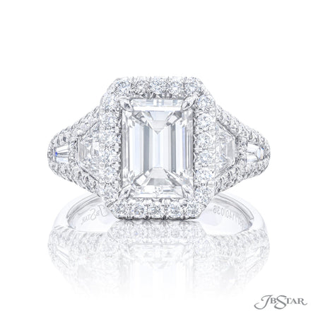 7140-036 | Diamond Engagement Ring 1.80 ct. GIA certified Emerald Cut Front View