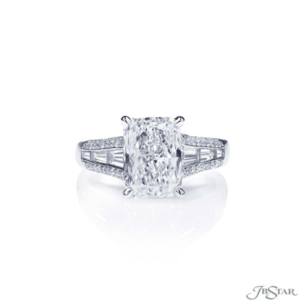2.61 ct Platinum Radiant Cut Diamond Engagement Ring