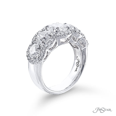 7183-004 | Diamond Wedding Band Round Cut GIA Certified Micro Pave Side View
