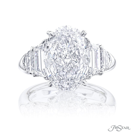 7236-002 | Diamond Engagement Ring GIA certified 4.72 ct Oval Cut Front View