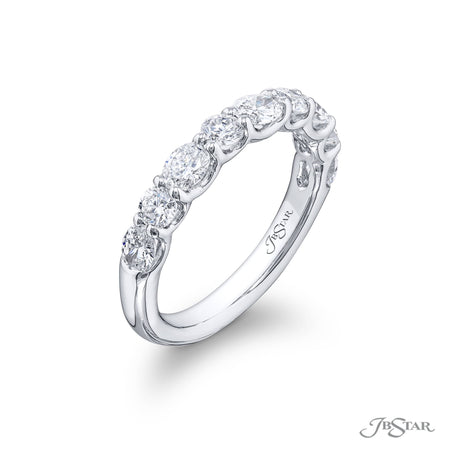 7272-018 | Diamond Wedding Band Oval & Round 1.15 ctw East to West Side View