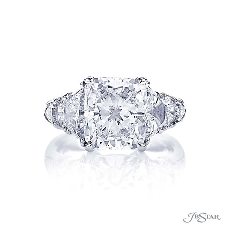 4.56 ct Platinum Cushion Cut Diamond Engagement Ring